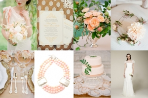 peach and gold | Glamour & Grace