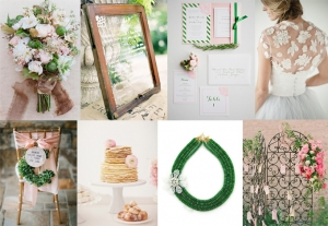 pink and green wedding inspiration | Glamour & Grace