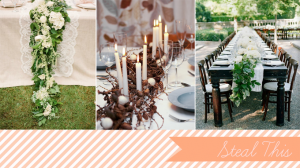 Garland Centerpieces | Glamour and Grace