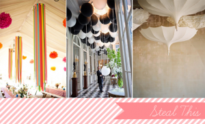 creative ceiling decor | Glamour & Grace