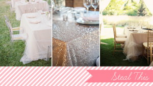 glam table cloths | Glamour & Grace
