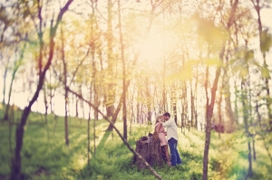 romantic forest engagement | Connection Photography