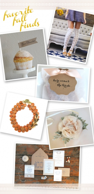 favorite fall handmade wedding finds | Glamour & Grace