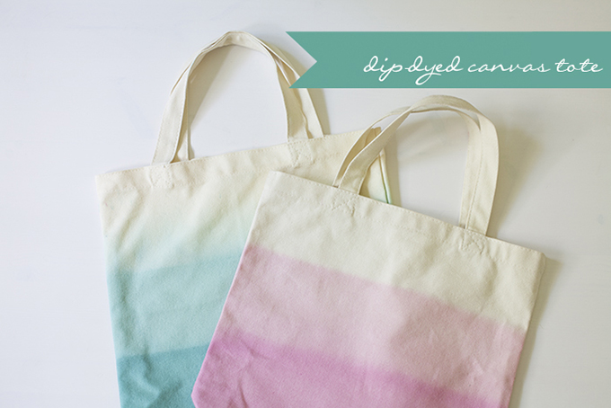 DIY | Dip Dyed Canvas Totes | Glamour & Grace