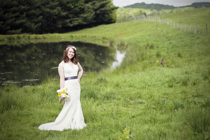 southern farm bridal portraits