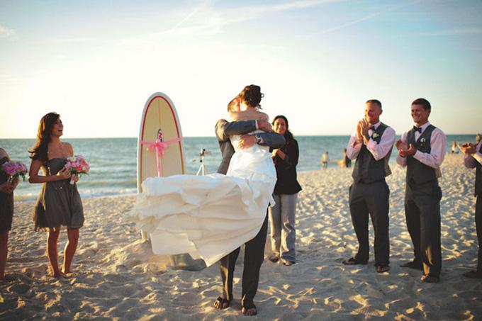 Vintage surf wedding