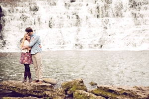 waterfall engagement | Chris and Adrienne Scott Photographers