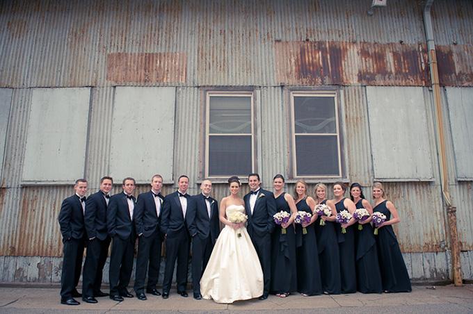 A Modern White Wedding Ceremony: A Modern Glam Boston Wedding