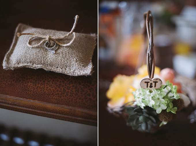 A Rustic Homespun Orange Wedding Glamour Amp Grace