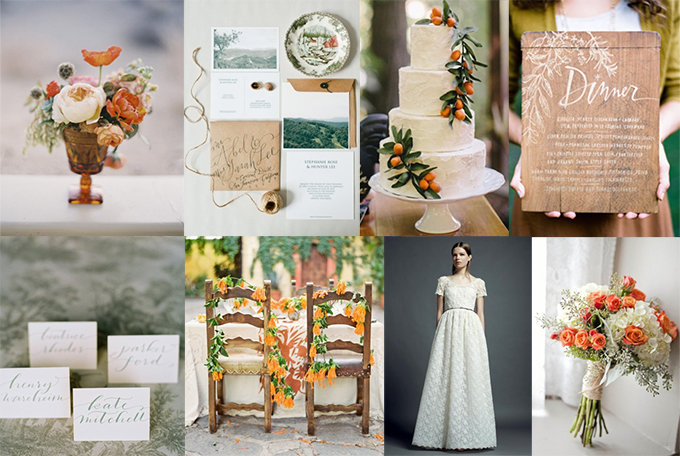 orange and sage wedding inspiration | Glamour & Grace