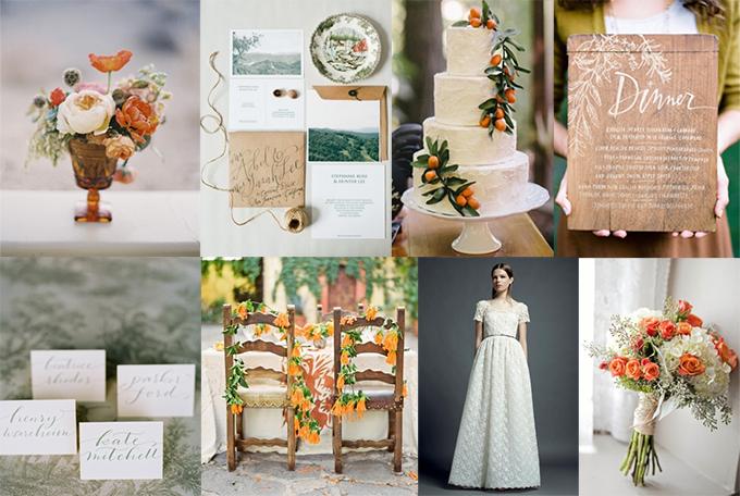 orange and sage wedding inspiration | Glamour & Grace