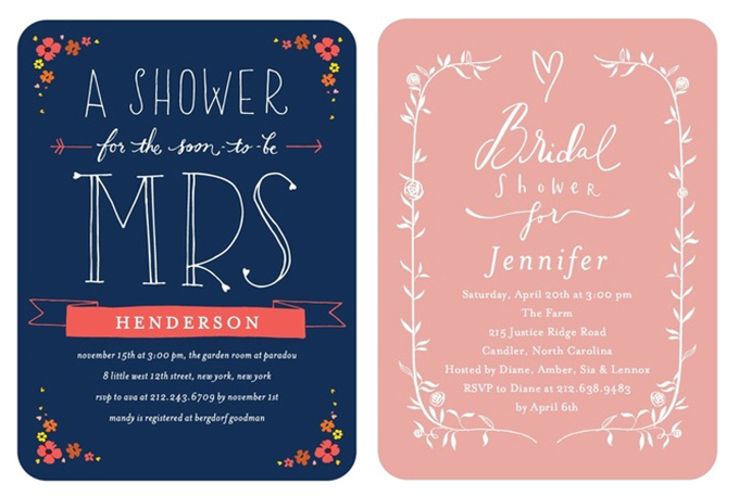Wedding Gift Card Shower : Bridal Shower Invitations from Wedding Paper Divas Glamour & Grace
