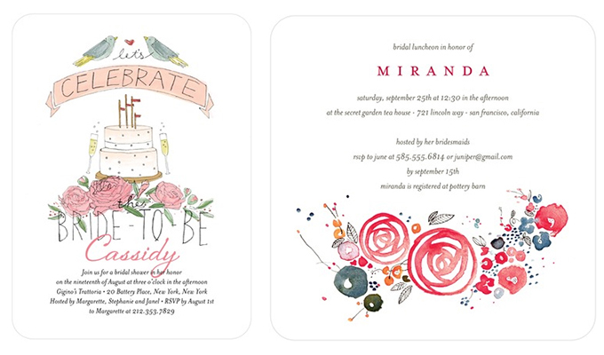 Bridal Shower Invitations from Wedding Paper Divas Glamour Grace