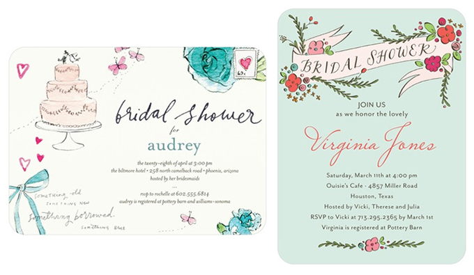 bridal shower invitations from wedding paper divas