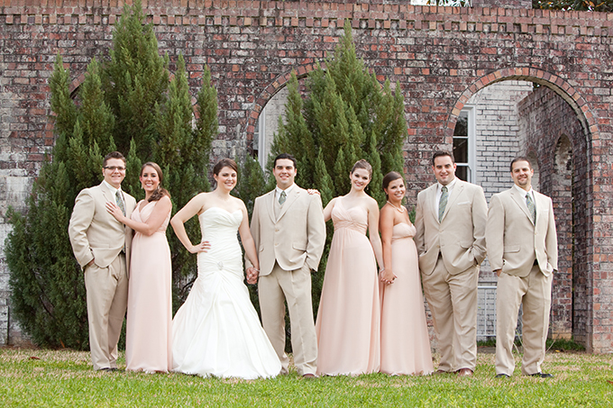 peach southern spring wedding | Ashley Daniell