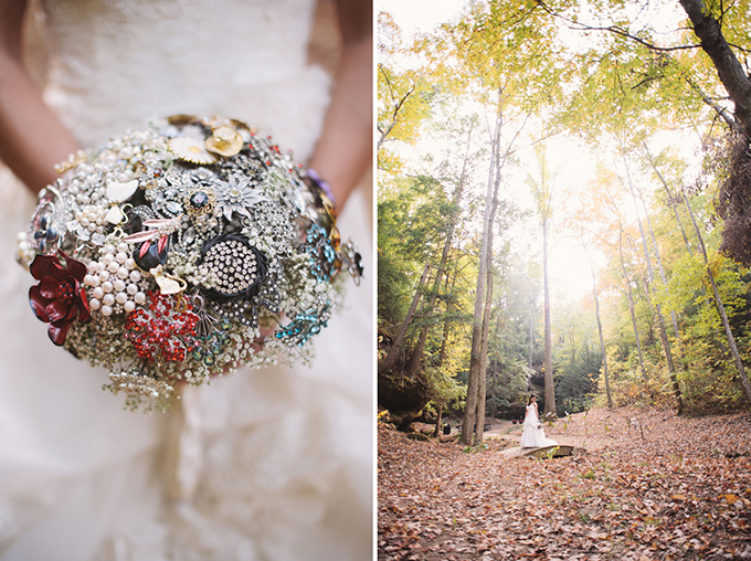 Vintage Fall Mountain Wedding