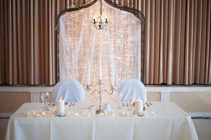 A White Vintage Glam Wedding