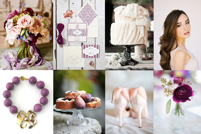 Plum And Peach Wedding Inspiration