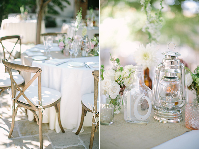 A vintage pink and gray california wedding glamour grace - Deco mariage boheme chic ...