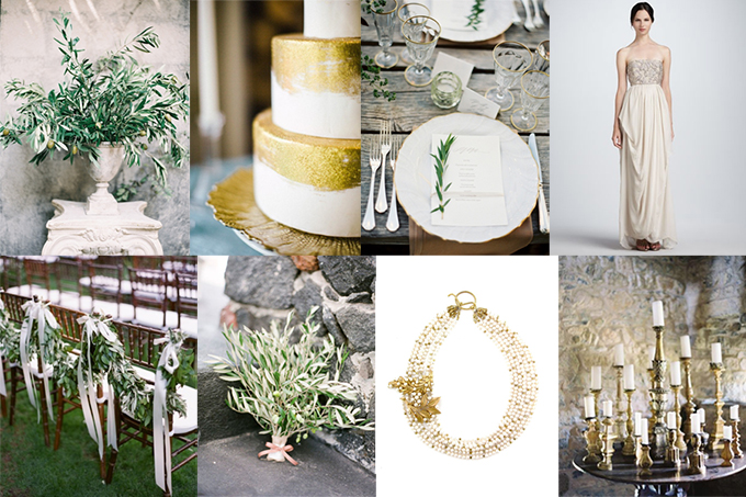 olive and gold wedding inspiration | Glamour &amp; Grace