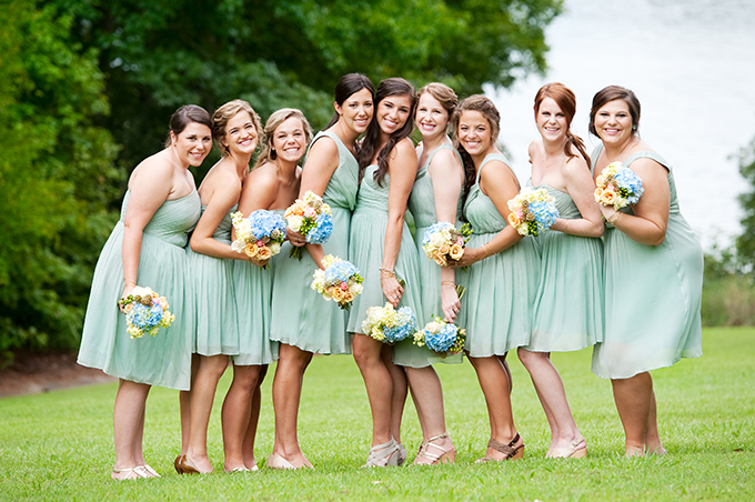 seafoam green southern wedding | Alisha Crossley Photography