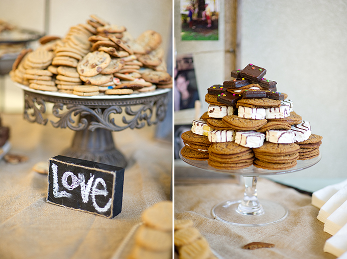 wedding dessert bar | Alisha Crossley Photography