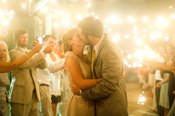 sparkler wedding exit | Alisha Crossley Photography