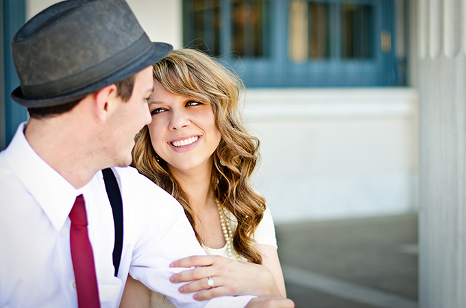 vintage travel engagement | Terina Matthews Photography