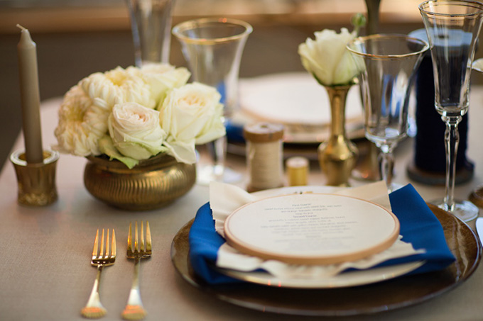 handmade blue and gold wedding inspiration | Jessica Haley Photography