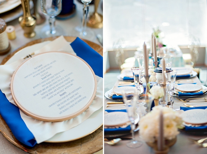handmade blue and gold wedding inspiration | Lyndah Wells Photography