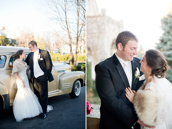 hot pink glam winter wedding | Amanda Megan Miller Photography