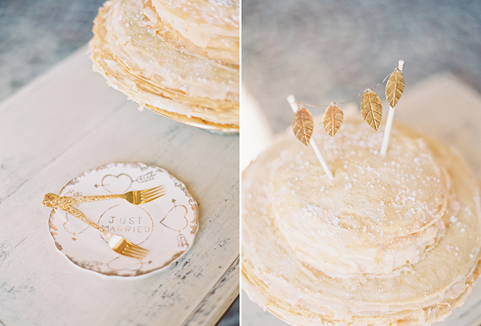 crepe cake | Michelle March Photography | Glamour & Grace