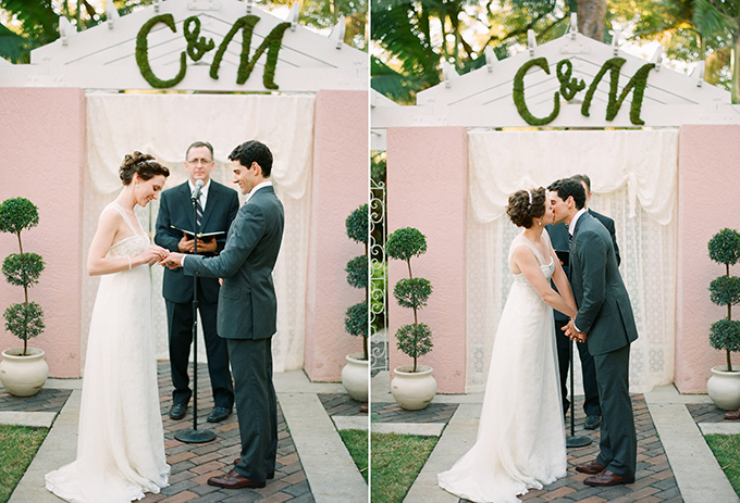 intimate pink and gray wedding | Justin DeMutiis Photography