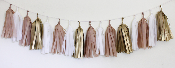 DIY tassel garlands | The Flair Exchange