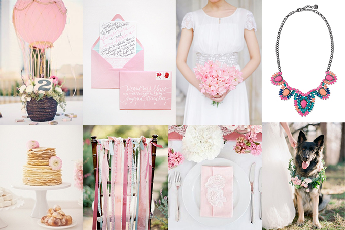 whimsical blush and blue wedding inspiration | Glamour & Grace