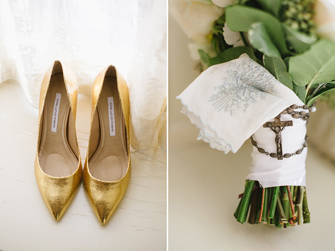 elegant handmade gold wedding | Natalie Franke Photography