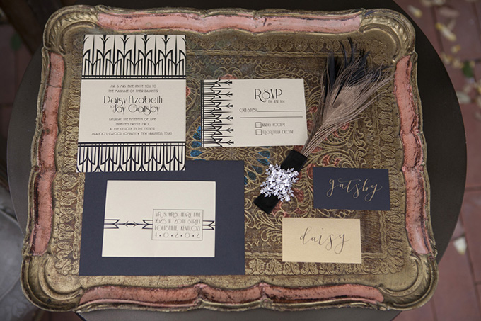 Romantic 1920's Wedding Inspiration