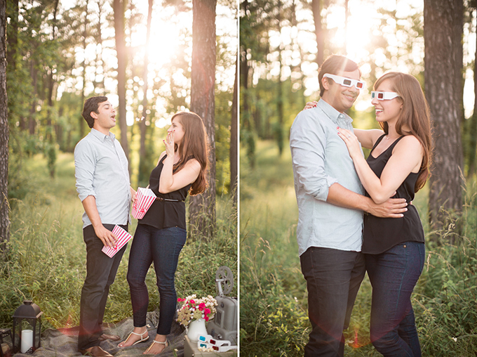vintage movie engagement | Amy Hutchinson