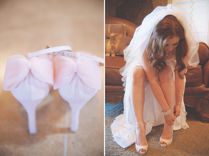 pink bow heels | Emily Heizer Photography