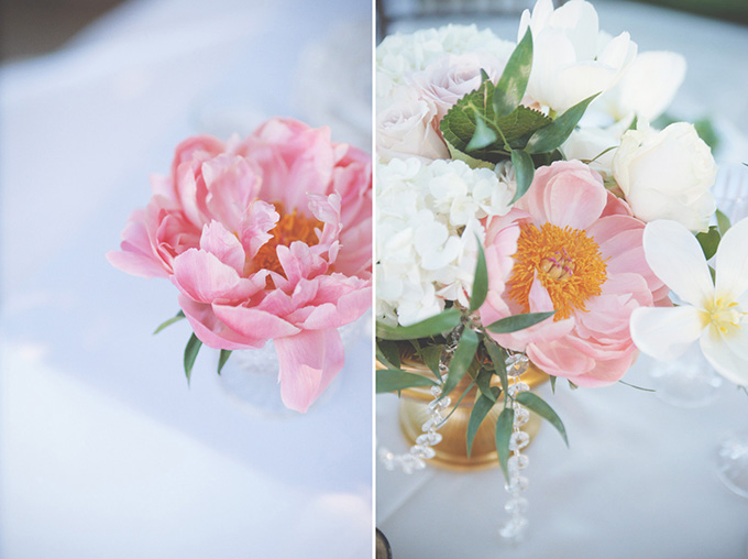 romantic pink and gold centerpices | Emily Heizer Photography
