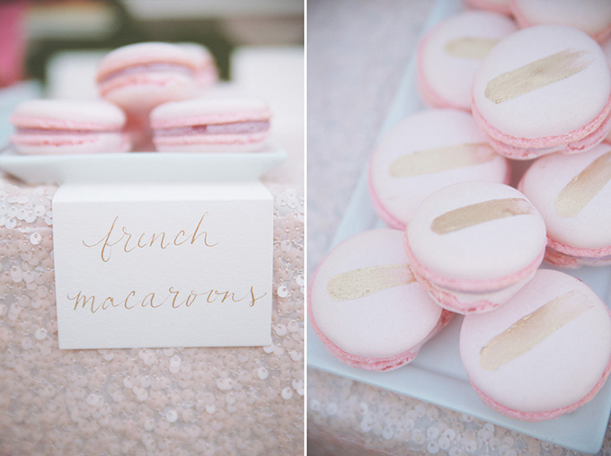 pink and gold macarons | Emily Heizer Photography