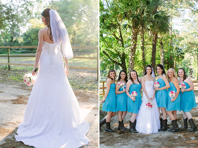 Pink And Blue Barn Wedding
