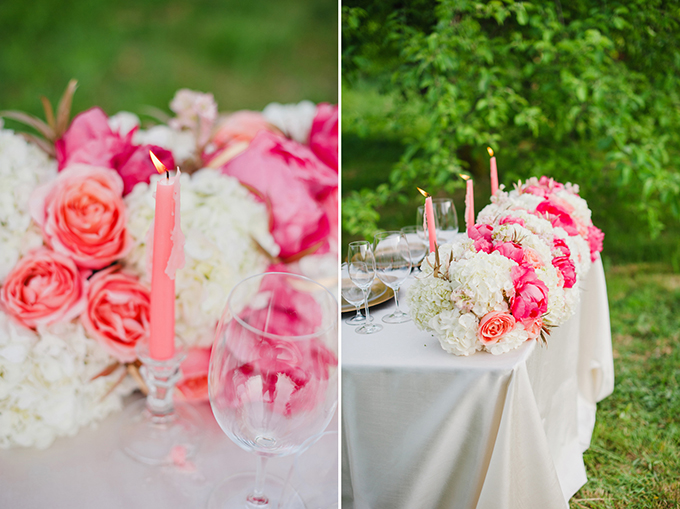 pink sweetheart table inspiration | Brittany Lauren Photography