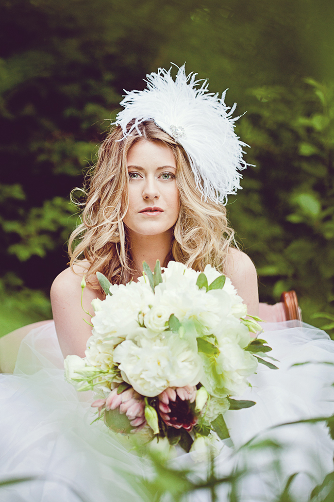 romantic bridal hair inspiration | AJ Photography
