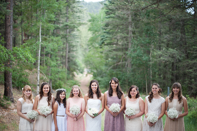mis-matched bridesmaids | Jasmine Nicole Photography
