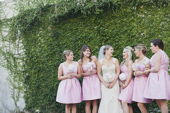 pink bridesmaids | Sarah Bray Photography