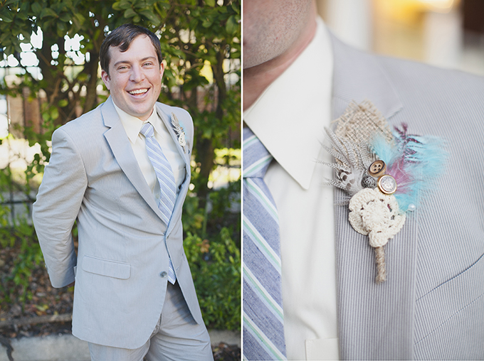 handmade groom bout | Sarah Bray Photography