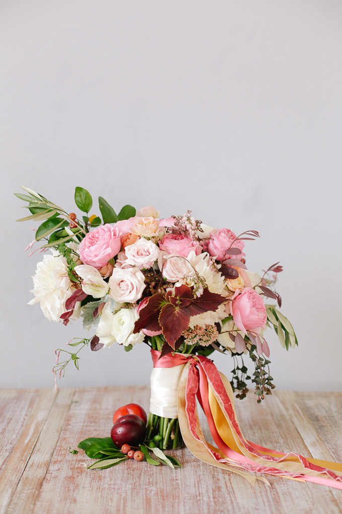 peach and plum bouquet | Annabella Charles