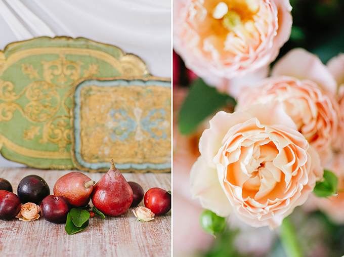 peach and plum wedding inspiration | Annabella Charles
