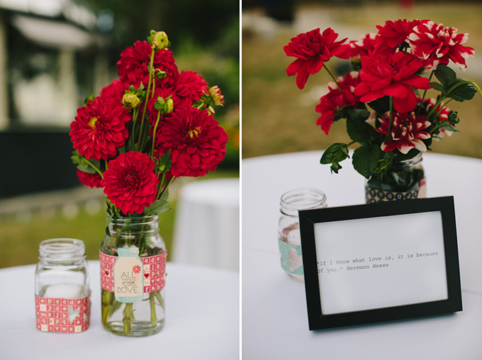 red centerpieces | Jamie Delaine Photography